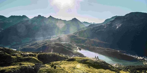 Aussicht auf den St. Moritzersee
