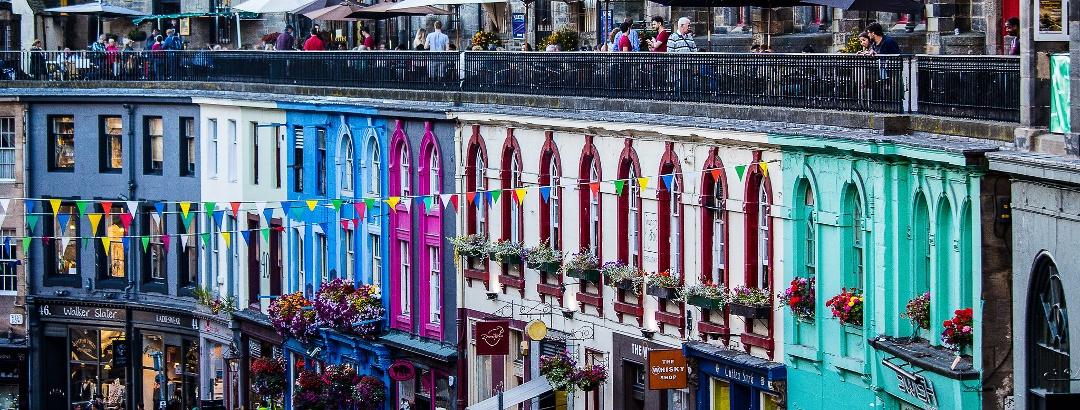 Victoria Street and Victoria Terrace in Edinburgh