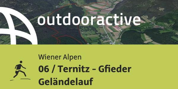 Trailrunning-Strecke in den Wiener Alpen: 06 / Ternitz - Gfieder Geländelauf
