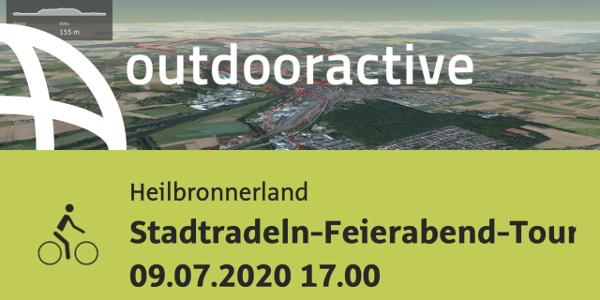 Radtour im nördlichen Baden-Württemberg: Stadtradeln-Feierabend-Tour 09.07.2020 17.00