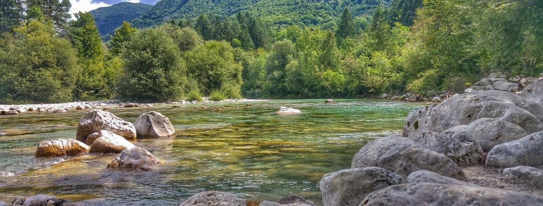 Landschaft im Soča-Tal