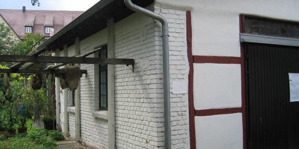 Felltrocknung am Gerbereimuseum Calw