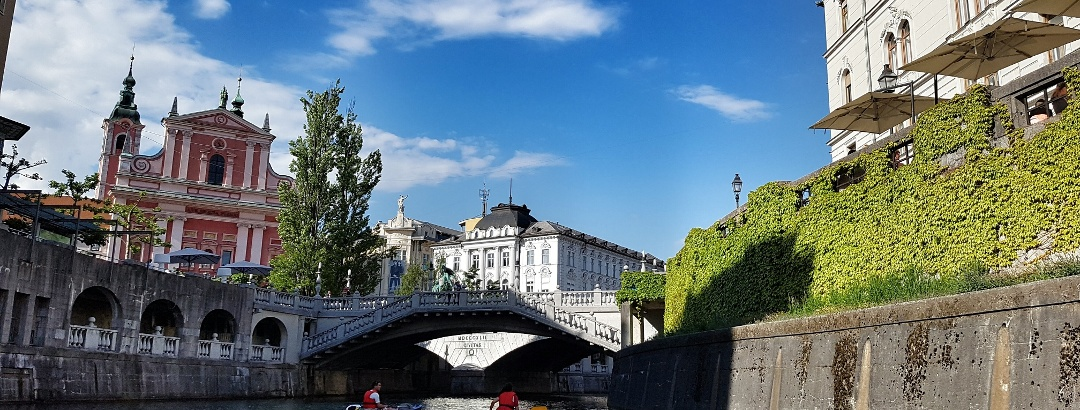 Drei Brücken in Ljubljana