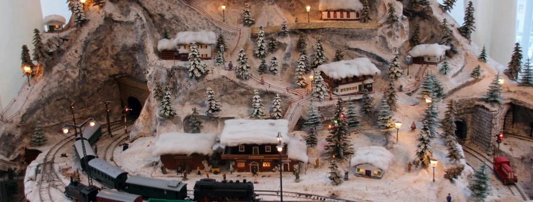 Weihnachtsberg im Depot Pohl-Ströher in Gelenau