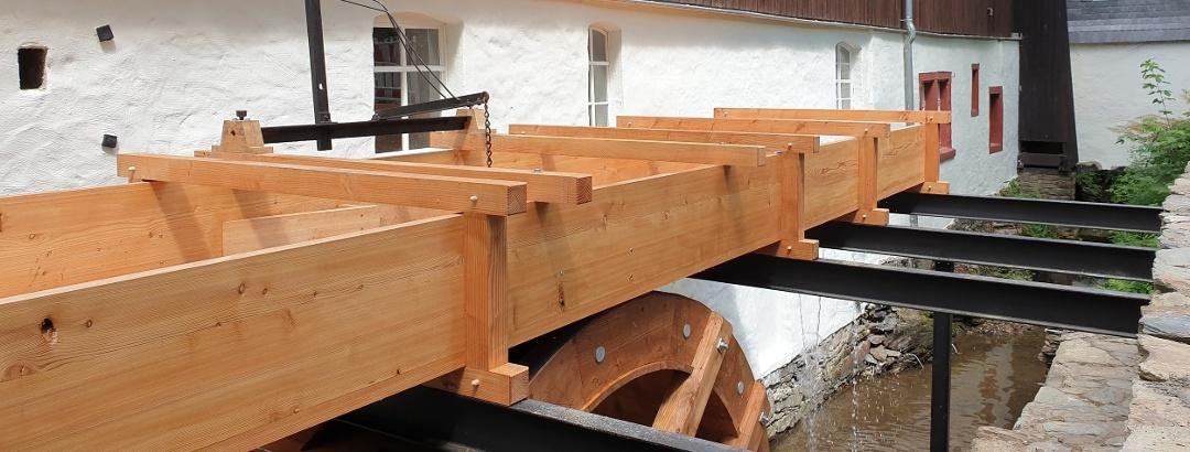 Wasserrad der Papiermühle Niederzwönitz