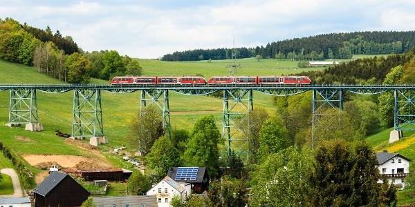 Erzgebirgische Aussichtsbahn - Markersbach Viadukt