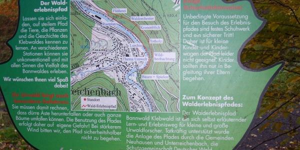 Wandertafel Bannwald Kleb