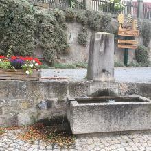 Quelle ,Reiche Ebrach' in Ebersbrunn. Fließt nach 58 KM in die Regnitz