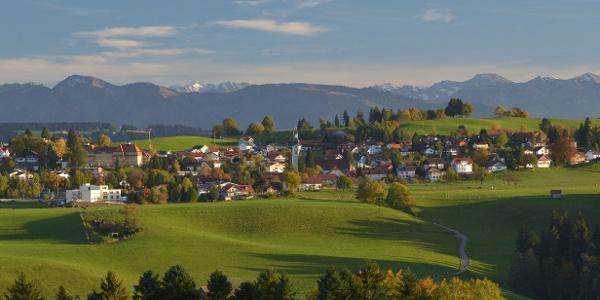 Ausblick auf Scheidegg