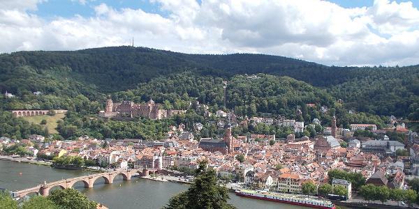 Blick auf die Altstadt von Heidelberg