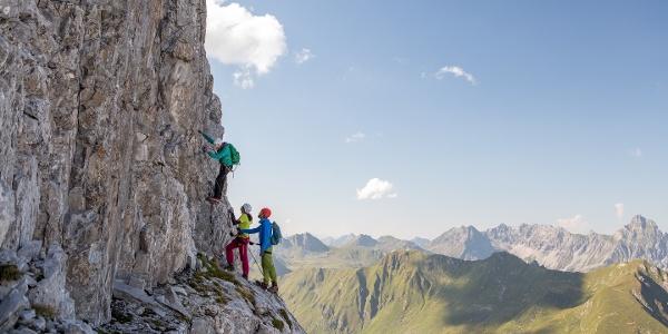 Rätikon; Klettersteig; Gauablickhöhle