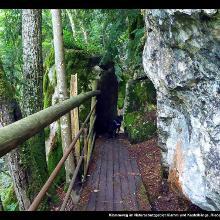 Klammweg im Naturschutzgebiet Klamm und Kastelhänge
