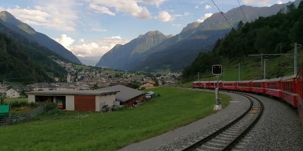 Ankunft in Poschiavo
