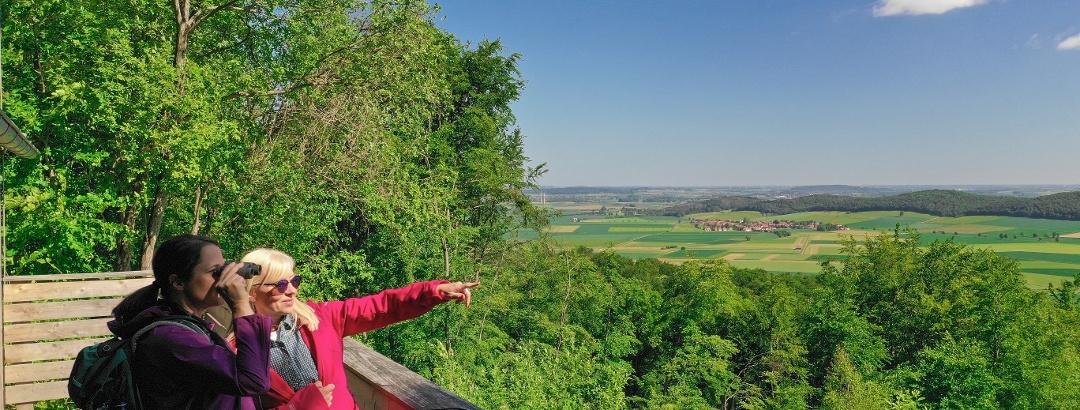 Blick vom Leineberglandbalkon