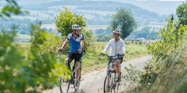 Radfahren mit Blick auf Bad Driburg