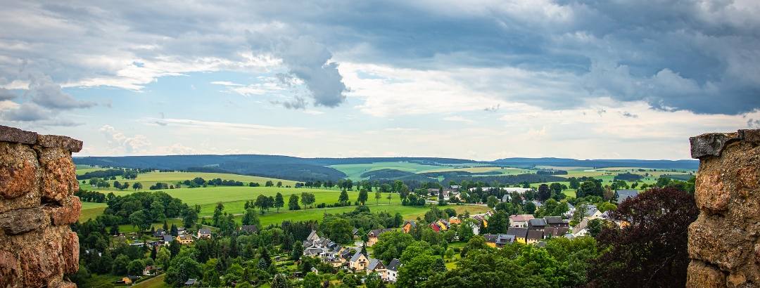 Castle view in the Ore Mountains