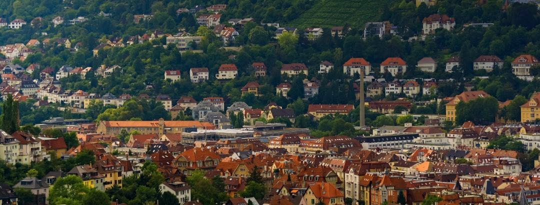 Blick auf die Stuttgarter Altstadt