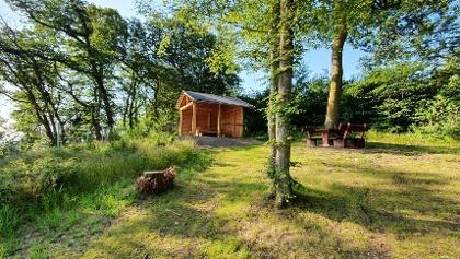 Hütte an der Traumschleife Bärenbachpfad in Baumholder