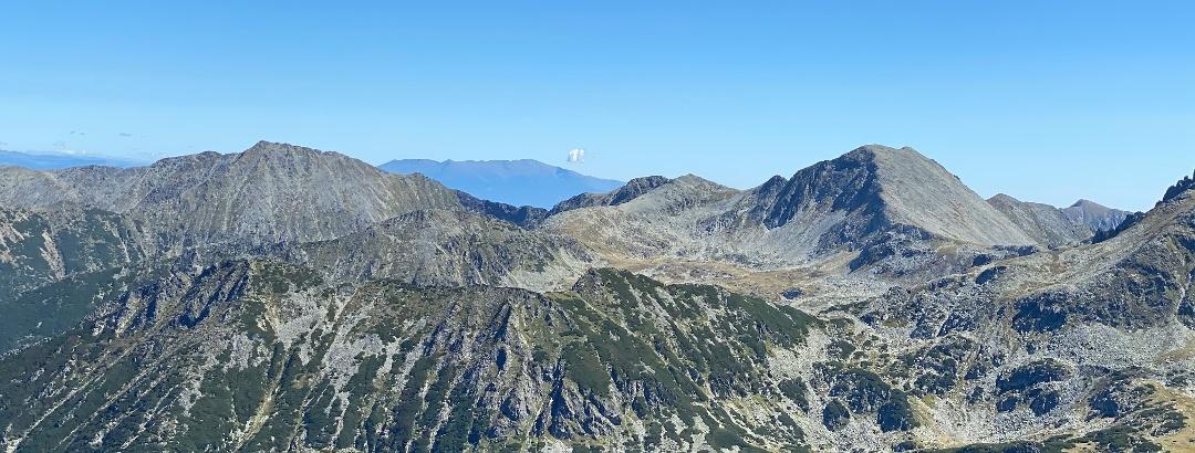 View from Retezat Peak, Southern Carpathians