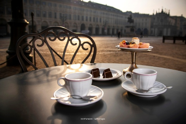 Coffee and pastries in Piedmont