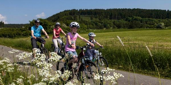 Radfahren mit der Familie in Medebach