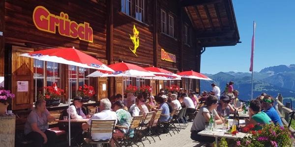 Terrasse Berghaus Schwänzelegg