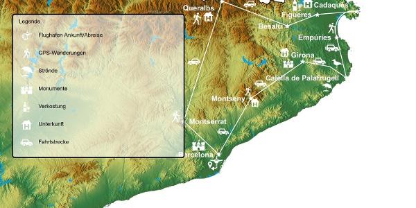Costa Brava, Barcelona und die Highlights Kataloniens Mietwagen-Rundreise individuell von MITourA