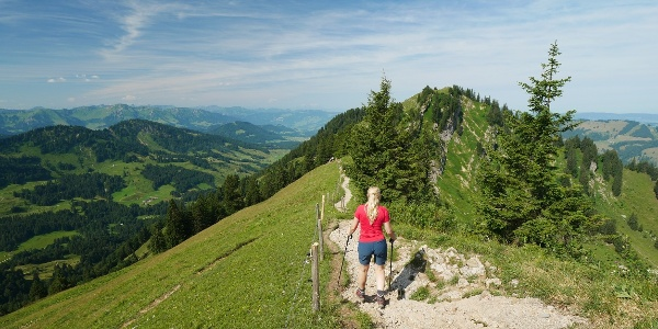 Mountain hiking in the Allgäu: From Hochgrat over the Eineguntkopf - Best hikes in Germany