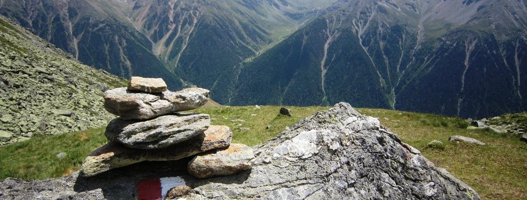 Blick vom Abstieg von der Portlesspitz ins Upital, Foto: Karin Leichter