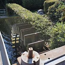 Sichtbar restauriert,  liefert ja saubere Wasserkraft für die Schleiferei
