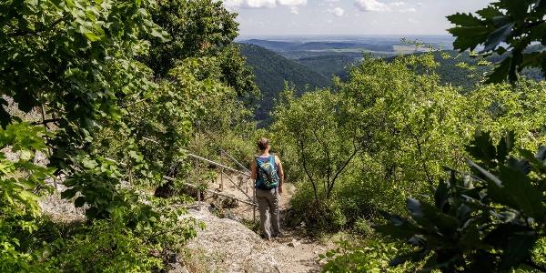 Kilátás a Hór-völgyre az Ódorvártól