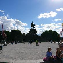 Deutsches Eck mit dem Reiterdenkmal von Kaiser Wilhelm I.