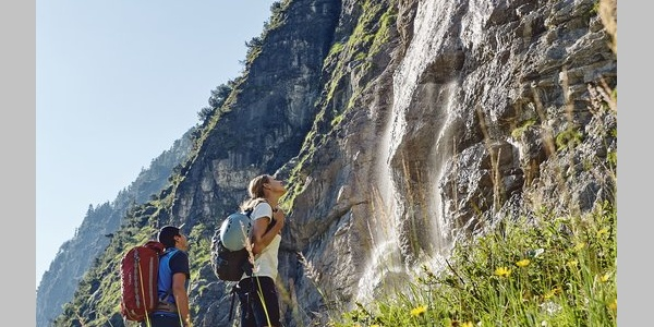 Einstieg Klettersteig am Fallbach