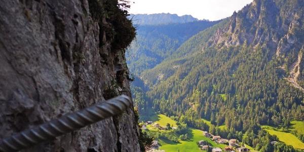 Blick nach Brand vom Klettersteit Kellenegg