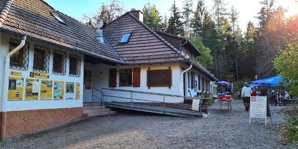 Start am Parkplatz der Dahner PWV-Hütte im Moosbachtal
