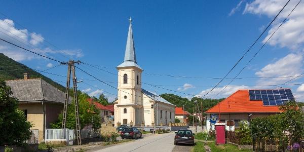 Pusztafalu református temploma