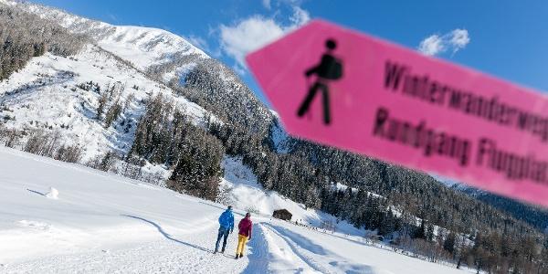 Bestens beschilderte Winterwanderwege