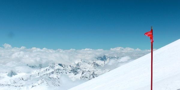 Горнолыжная трасса на величайшей вершине Европы - Эльбрус