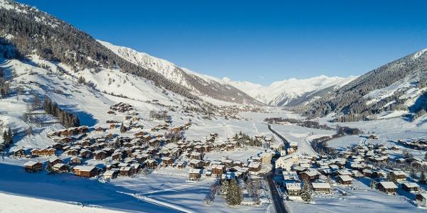 Mountain village Reckingen from above