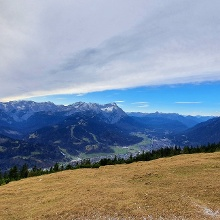 Panorama Wetterstein - Zugspitze bis Kramer (vom Wank aus)