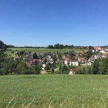 Sicht auf den Stadtteil Frutenhof