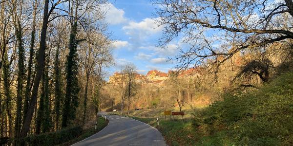 Taubertal mit Blick hinauf nach Rothenburg