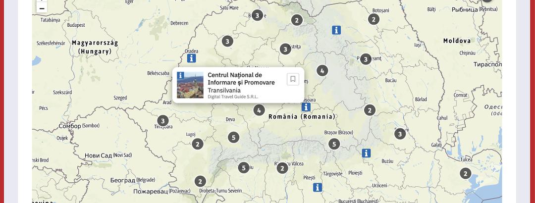 Harta centrelor de informare turistică