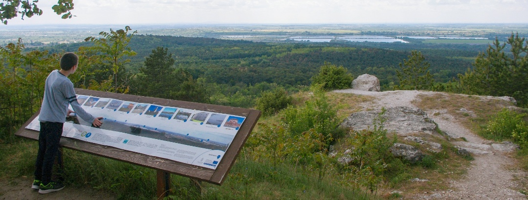 Kilátás a Ferencmajori-halastavakra a Kőpitéről