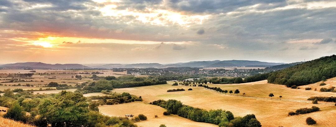Blick von den Holzbergwiesen