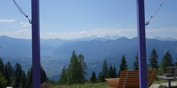 View of the Dachstein mountains