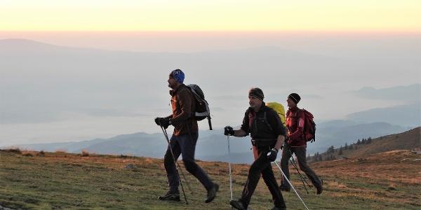 Auf der Highlander Strecke auf der Saualpe frühmorgens unterwegs