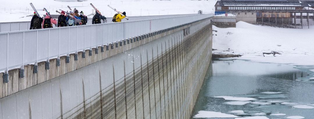 Staumauer am Silvrettasee