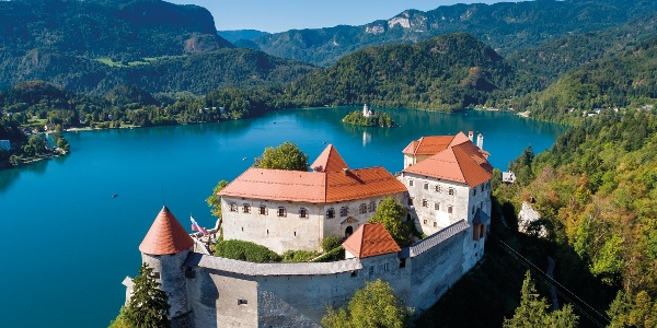Bled castle above Lake Bled