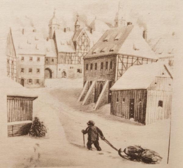 Altenberg Markt um 1835